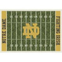 University of Notre Dame 5-Foot 4-Inch x 7-Foot 8-Inch Medium Home Field Rug