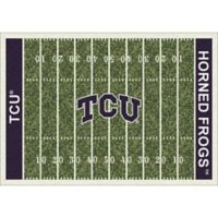 Texas Christian University 7-Foot 8-Inch x 10-Foot 9-Inch Large Home Field Rug