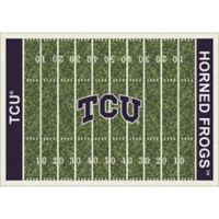 Texas Christian University 5-Foot 4-Inch x 7-Foot 8-Inch Medium Home Field Rug