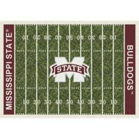 Mississippi State University 5-Foot 4-Inch x 7-Foot 8-Inch Medium Home Field Rug