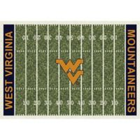 West Virginia University 3-Foot 10-Inch x 5-Foot 4-Inch Small Home Field Rug