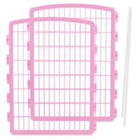 IRIS USA 2-Piece Add-On Kit for 8-Panel Indoor/Outdoor Pet Pen in Pink