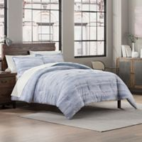 Garment Washed Reversible Full/Queen Comforter Set in Chambray