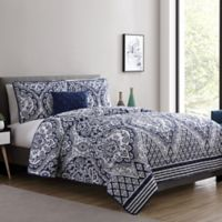 VCNY Home Tori Twin XL Quilt Set in Navy