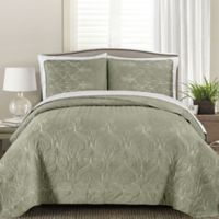 Genna Full/Queen Quilt Set in Taupe
