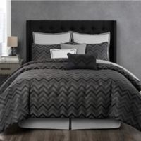 Laundry by SHELLI SEGAL® Berkeley Reversible King Comforter Set in Pewter