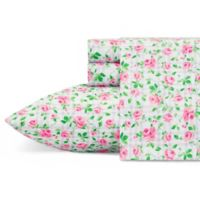Betsey Johnson® Plaid Roses Twin Sheet Set in Pink