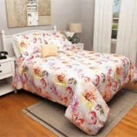 Bermuda 5-Piece Queen Comforter Set in White/Red