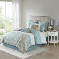 Shawnee 8-Piece Reversible California King Comforter Set in Blue