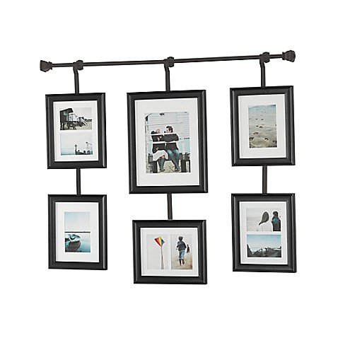 Buy wall solutions rod and frame set from bed bath beyond for Hanging frames on walls