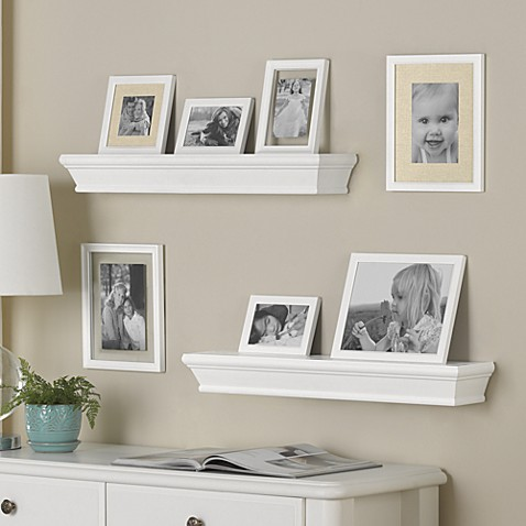 9-Piece Traditional Ledge and Frame Set in White