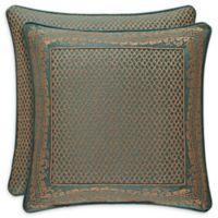 J. Queen New York™ Montgomery Lattice Square Throw Pillow in Emerald