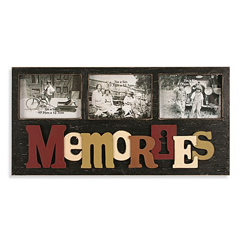 Memories Wall Collage 3-Opening 5-Inch x 7-Inch Picture Frame