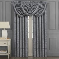 J. Queen New York™ Rigoletto 84-Inch Rod Pocket Window Curtain Panel Pair in Charcoal