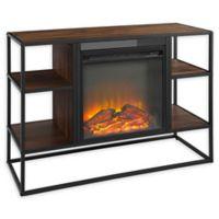 "Forest Gate 40"" Elm Industrial Modern Fireplace TV Console in Dark Walnut"