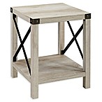 Forest Gate Wooden Square Side Table in White Oak