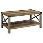 Forest Gate 2-Tier Industrial Rectangular Coffee Table in Rustic Oak