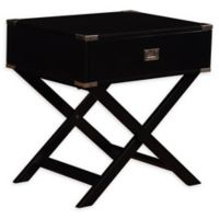 Linon Home Peggy X-Base Accent Table in Black