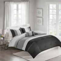 Terence 4-Piece Full/Queen Comforter Set in Black