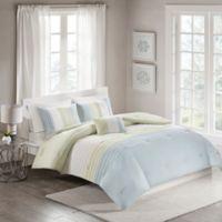 Terence 4-Piece Full/Queen Comforter Set in Green