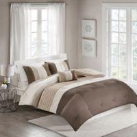 Terence 4-Piece Full/Queen Comforter Set in Neutral