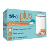 Diaper Dekor Plus Diaper Disposal Refills in Green (2-Pack)