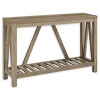 "Forest Gate 52"" Charlotte Rustic Entry Console Table in Rustic Oak"