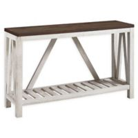 """Forest Gate 52"""" Charlotte Rustic Entry Console Table in White Oak"""