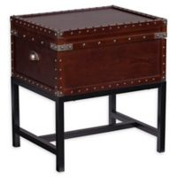 Southern Enterprises Voyager Storage Side Table Trunk