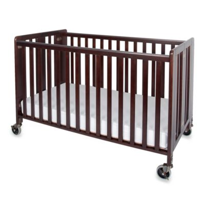 baby furniture u003e foundations hideaway easy roll folding fixed side fullsize crib