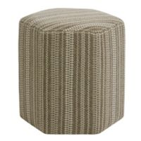 Harbor House™ Wood Upholstered Hexagonal Ottoman in Brown
