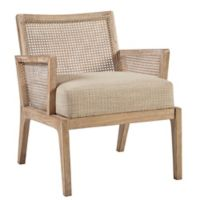 Ink+ivy™ Rubberwood Upholstered Kelly Cane Chair in Light Brown