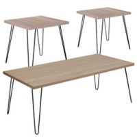 Flash Furniture Union Square 3-Piece Table Set in Oak