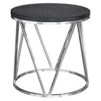 Armen Living® Vivian Stainless Steel End Table in Grey