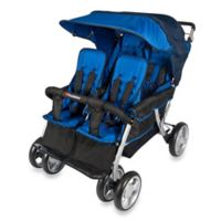 Foundations® The Quad LX™ 4-Passenger Stroller with Dual Folding Canopy in Blue