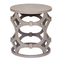Armen Living® Tuxedo Wooden End Table in Grey