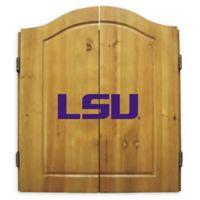 LSU Dartboard and Cabinet Set