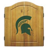 Michigan State University Dartboard and Cabinet Set