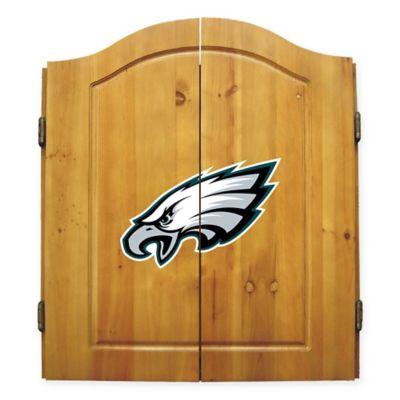 NFL Philadelphia Eagles Dartboard And Cabinet Set