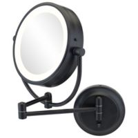 Kimball & Young NeoModern 1x/5x Round Magnifying Mountable Mirror in Matte Black