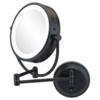 Kimball & Young NeoModern Cool 1x/5x Round Magnifying Mountable Mirror in Matte Black