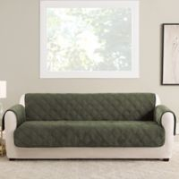 Sure Fit® Triple Protection Sofa Cover in Olive
