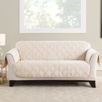 Sure Fit® Triple Protection Loveseat Cover in Cream