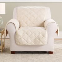 Sure Fit® Triple Protection Accent Chair Cover in Cream