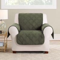 Sure Fit® Triple Protection Accent Chair Cover in Olive