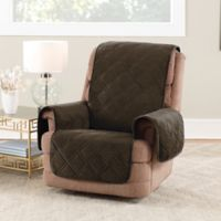 Sure Fit® Triple Protection Recliner Cover is Chocolate