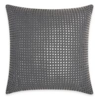 Mina Victory Natural Hide Metallic Square Throw Pillow in Silver