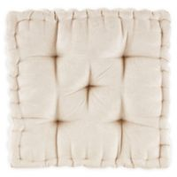 Intelligent Design Azza Square Floor Cushion in Ivory