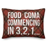 Food Coma Oblong Throw Pillow