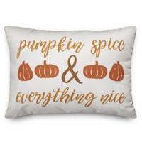 """Pumpkin Spice & Everything Nice"" Oblong Throw Pillow"